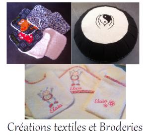 création textile broderie